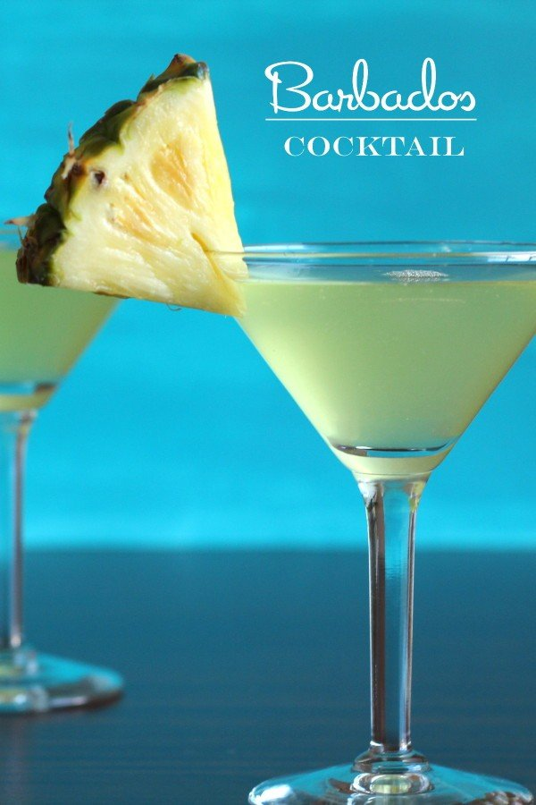 Barbados Cocktail drink recipe with pineapple, rum and triple sec.
