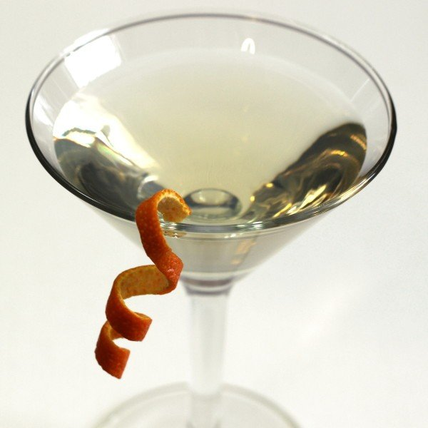 Inverted Pyramid Martini recipe with Absolut Citron, Kurrant and Grand Marnier.
