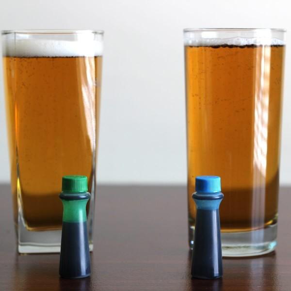 Vial In A Glass Of Beer Jerking Off
