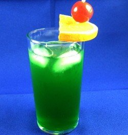 Leap Frog drink with cherry and orange