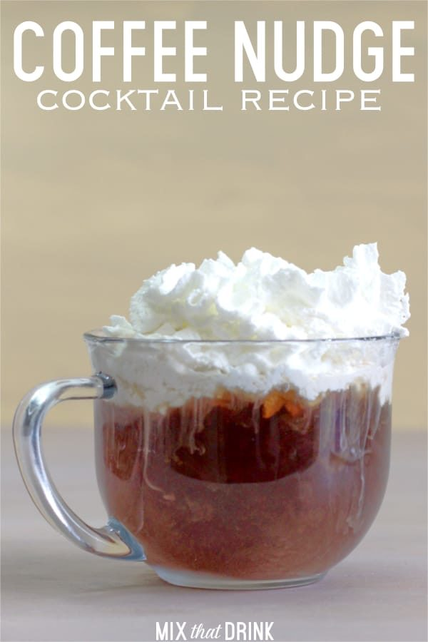 Coffee Nudge cocktail with whipped cream