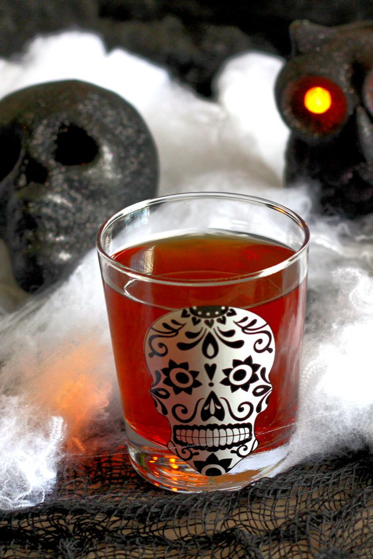 Soul Taker drink rounded by Day of the Dead decor