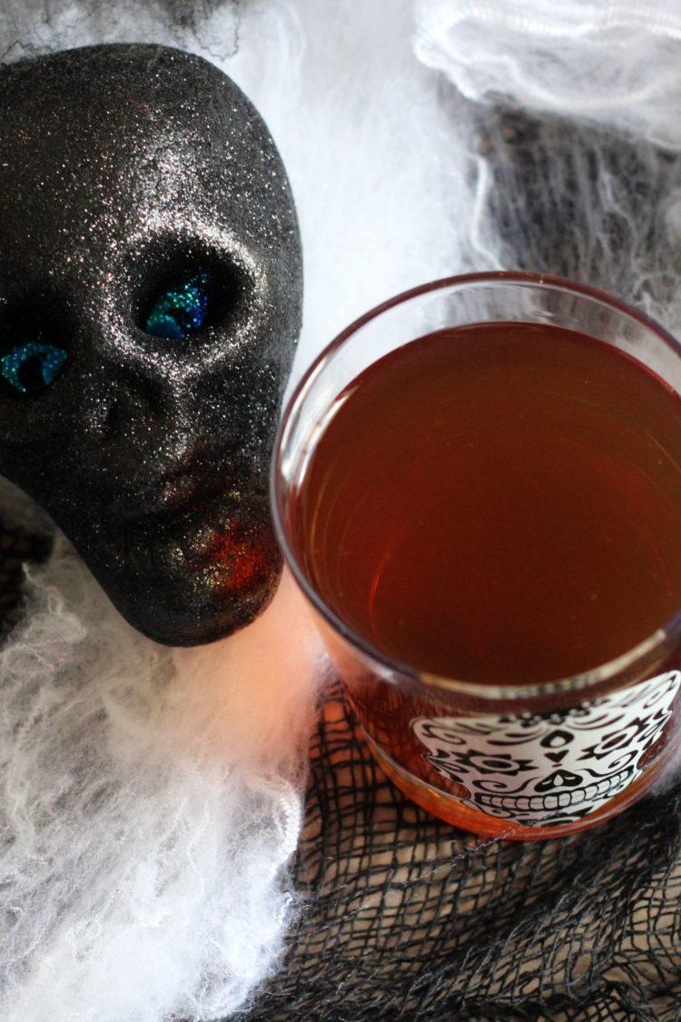 Soul Taker drink next to decorative skull