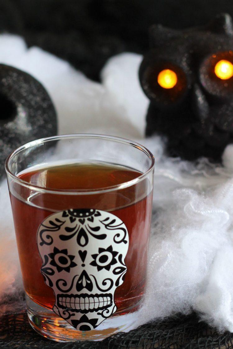 Soul Taker drink in Day of the Dead glass