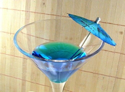Blue Cowboy drink recipe - Gin, Blue Curacao