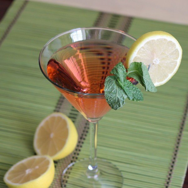 Cooperstown Cocktail recipe: sweet vermouth, dry vermouth, gin, mint and lemon