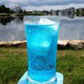 Hard Ocean Water drink recipe - Coconut Vodka, Blue Curacao, Sprite