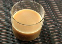 Brown Eye Opener drink in short glass
