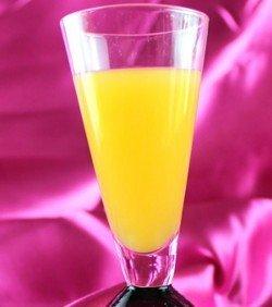 Fuzzy Monkey drink recipe - Vodka, Peach Schnapps, Creme de Banane, Orange Juice