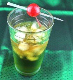 Riedinger drink recipe - Light Rum, Midori, Lime Juice, Cola