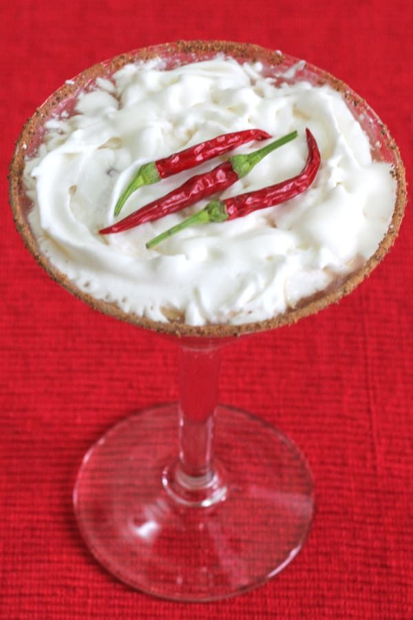 Red Hot Santa 'Tini Christmas drink