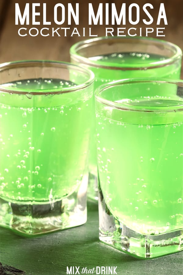 Melon Mimosa drink recipe - Midori, Chilled Champagne