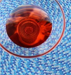 Princeton drink on woven placemat