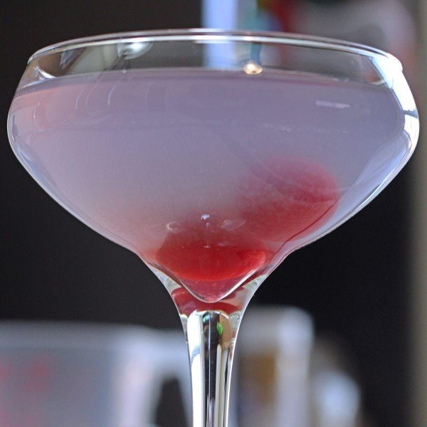The Aviation cocktail uses a touch of one of the lesser known and harder to find liqueurs in the world: creme de violette, a liqueur that tastes like violets. It also features gin, maraschino and lemon.