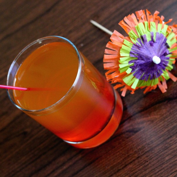 Hawaiian Redneck drink recipe: Black Rum, Southern Comfort, Pineapple Juice, Grenadine