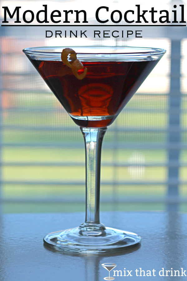 The Modern Cocktail blends scotch whiskey with sloe gin, lemon juice, anisette and more. It sounds like a weird combination, but this drink recipe will surprise you.