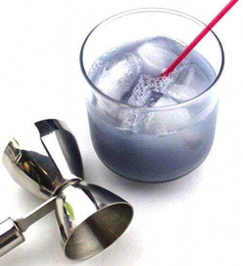 Purple Kiss drink recipe - Creme de Noyaux, Gin, Cherry Brandy, Lemon Juice, Egg White