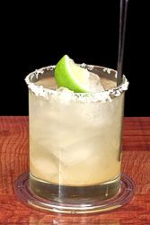 Tequila and Tonic drink with lime
