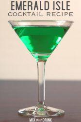 Emerald Isle Cocktail in martini glass