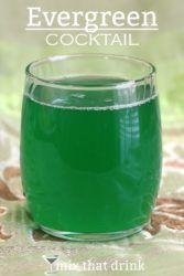 Emerald green Evergreen Cocktail