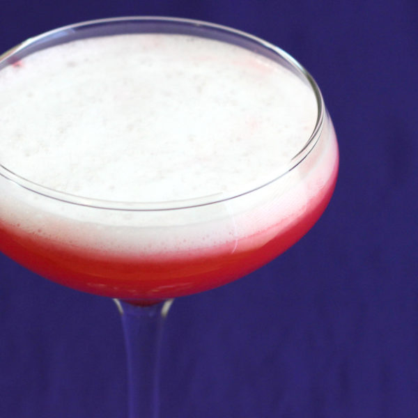 The Royal Clover Club Cocktail has a flavor that's all citrus and berry, but with a creamy, silky texture. That's because it uses an egg yolk, which adds very little flavor, but some definite body.