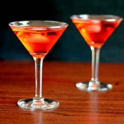 Red Nail drink recipe with vodka and Campari.