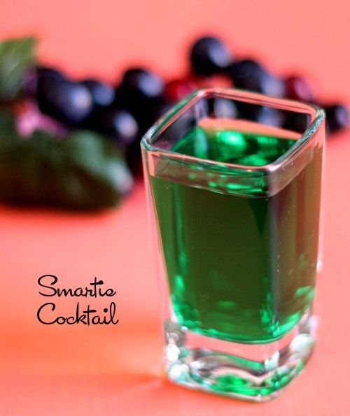 Smartie drink recipe - Grape Schnapps, Midori