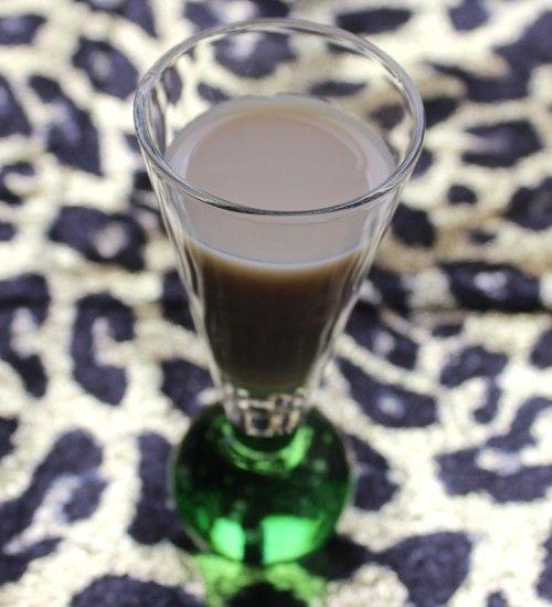 Apple Cobbler drink in cordial glass