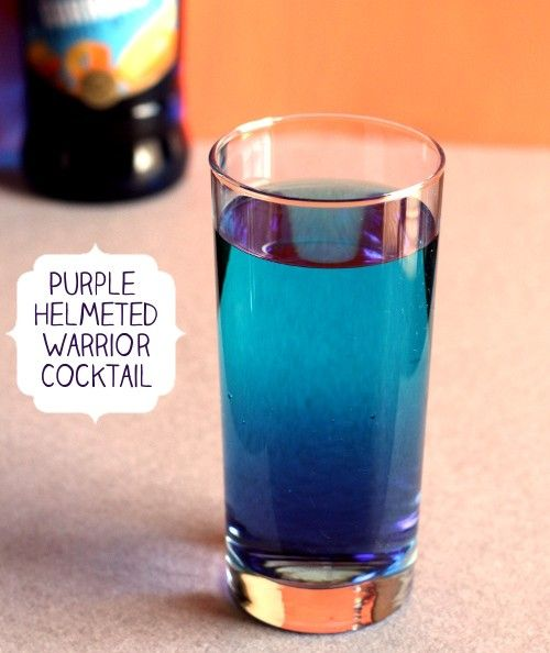 purple helmeted warrior mix that drink