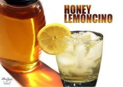 Honey Lemoncino drink recipe - Punzoné Lemoncino, Punzoné Vodka, Honey, Lemon Zest