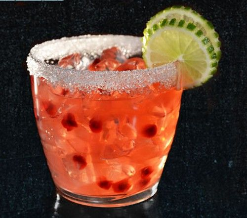 Pomegranate Passion drink recipe - Tequila, Margarita Mix, Orange Liqueur, Pomegranate Juice