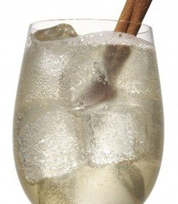 Sleigh Bells S'mores drink recipe - Three Olives S'mores Vodka, Frangelico, Ginger Beer, Cinnamon Stick