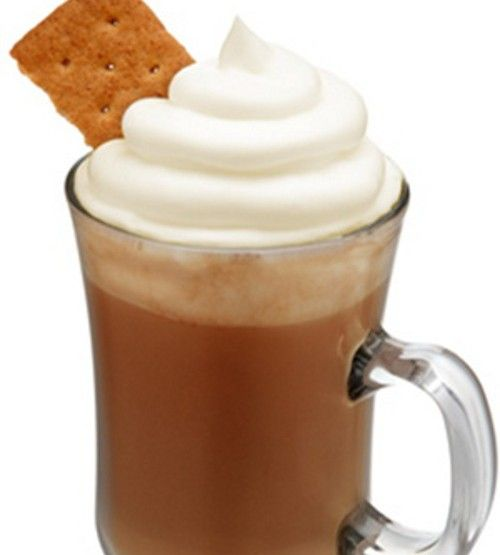S'mores Hot Cocoa drink recipe - Three Olives S'mores Vodka, Hot Chocolate, Graham Cracker, Whipped Cream, Marshmallow