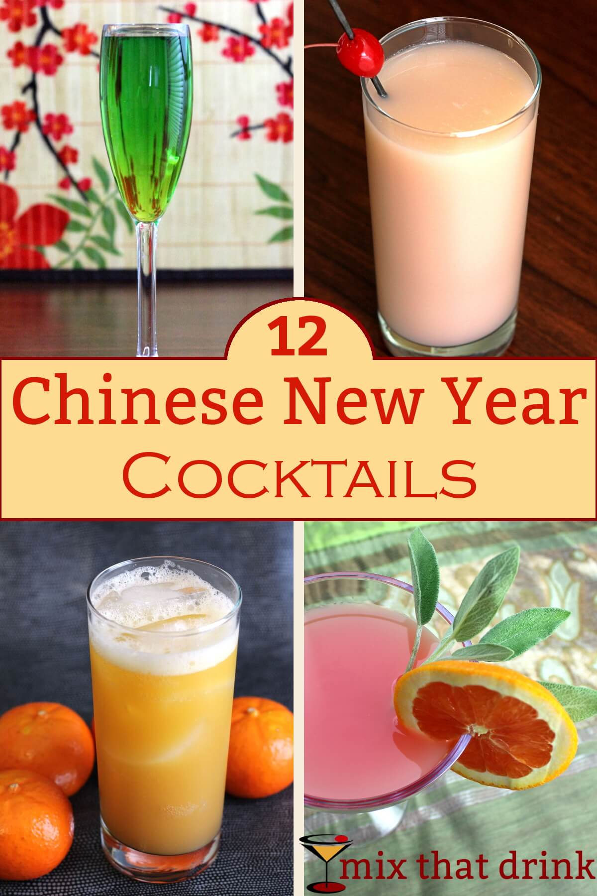 Chinese New Year Drinks - Mix That Drink