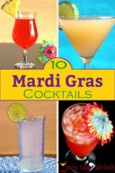 Collage of Mardi Gras drinks