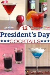 Collage of President's Day cocktails