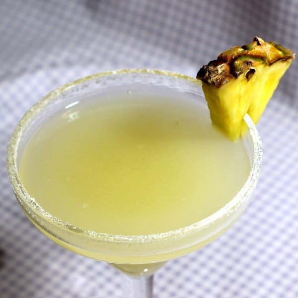 Pineapple Margarita recipe: tequila, pineapple, lime, Cointreau