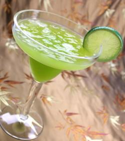 Key West Margarita recipe - Tequila, Midori, Pina Colada Mix, Lime, Orange, Grenadine