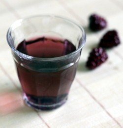 Purple Hooter Shooter recipe - Vodka, Chambord, Rose's Lime