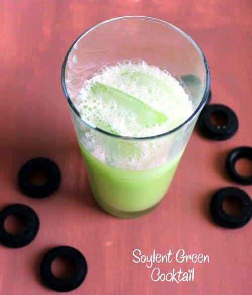 Soylent Green drink recipe - Vodka, Midori, Cream, Lemon