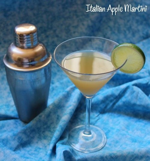 Italian Apple Martini recipe - Amaretto, Sour Apple Pucker, Vanilla Vodka, Lime, Cranberry