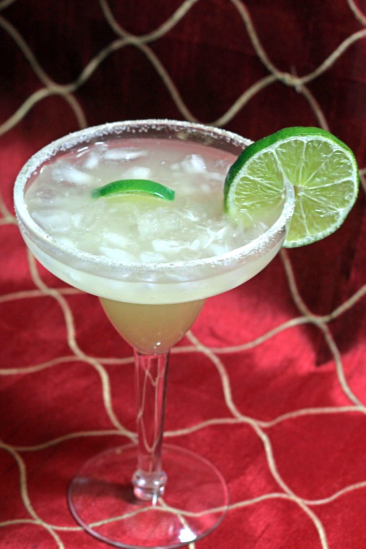Beer Margarita with lime wheel