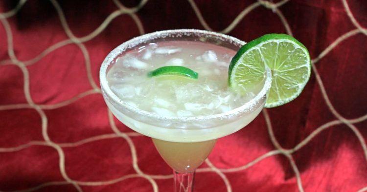 Beer Margarita with lime wheel