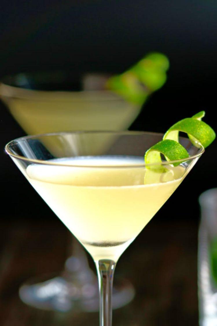 Elderflower Martini with lime twist