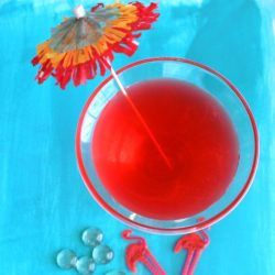 Flamingo Cocktail drink recipe - Apricot Brandy, Gin, Lime, Grenadine