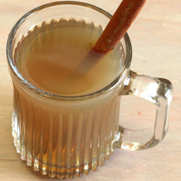 Hot Buttered Rum is a perfect drink for cool weather. It's a cozy, warm drink that's right at home next to a nice fire, or out on the deck on a crisp, clear evening, or even around a campfire. #mixthatdrink #hotbutteredrum #rumcocktails #classiccocktails