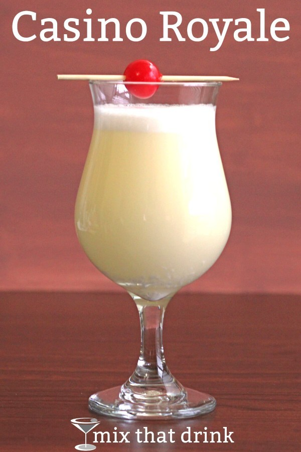 The Casino Royale cocktail was probably named after the first James Bond novel, and it has gin, lemon juice and maraschino liqueur. Plus an egg yolk, which adds a rich, silky texture to the drink.