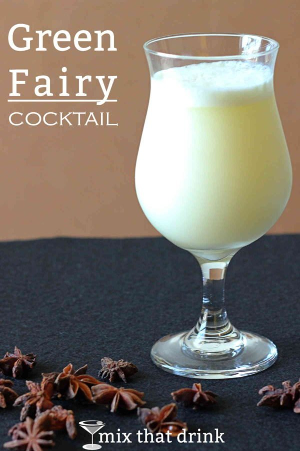 Green fairy drink recipe classic cocktail mix that drink for Green alcoholic drinks recipes
