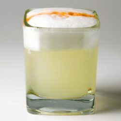 Pisco Sour drink recipe: Pisco Porton, sugar, lemon, egg white, Angostura bitters