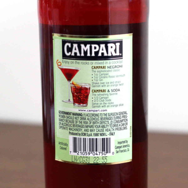 My detailed tasting notes on Campari, a translucent dark red liqueur that's most commonly drunk by itself as an aperitif or in cocktails like the Negroni. It's considered a bitter, but it's actually bittersweet.